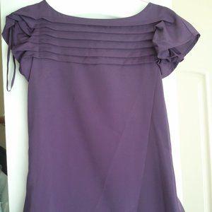 Fun Purple Blouse Target Sz Small Fits Medium NWOT